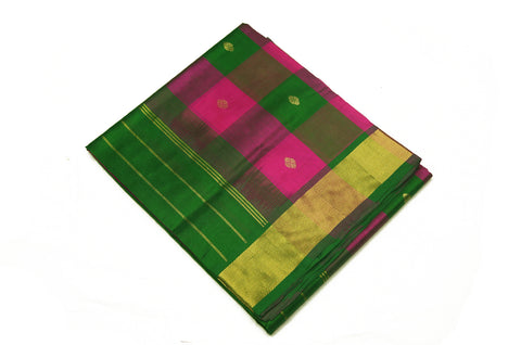 6043 Pink and Green Checks with Self Border