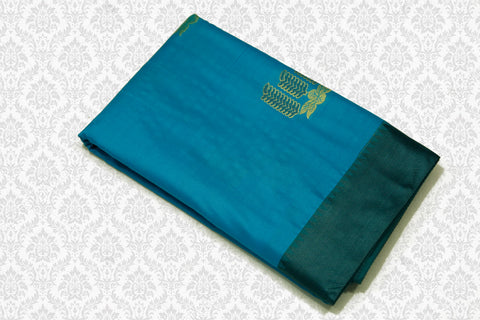 30094 Polyester Mix Saree Blue