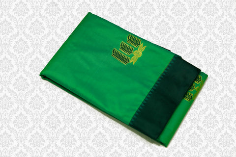 30097  Polyester Mix Saree  Parrot Green