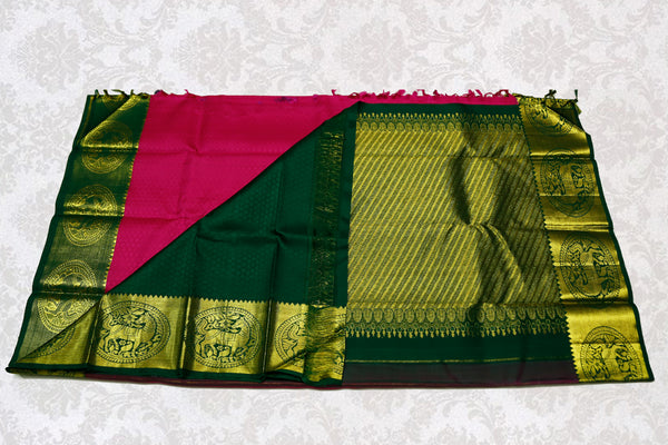 36157 Magenta with green border