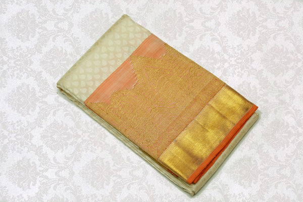 36082 Off White with Orange Gold border