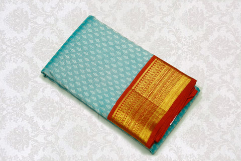 36076 Light Blue with Maroon border