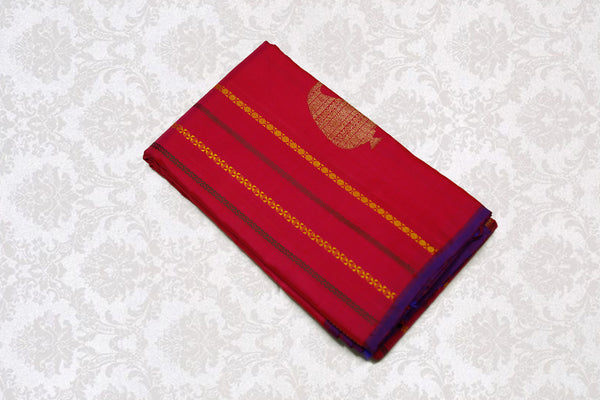 17012 Maroon Pink mix with Violet pallu