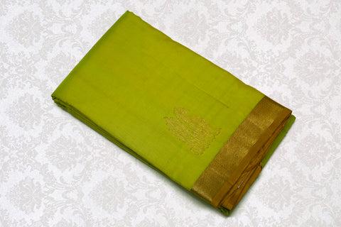 17005 Sampangi Green with Mustard pallu