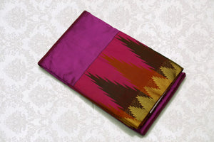 37706 Magenta with Maroon shot color pallu