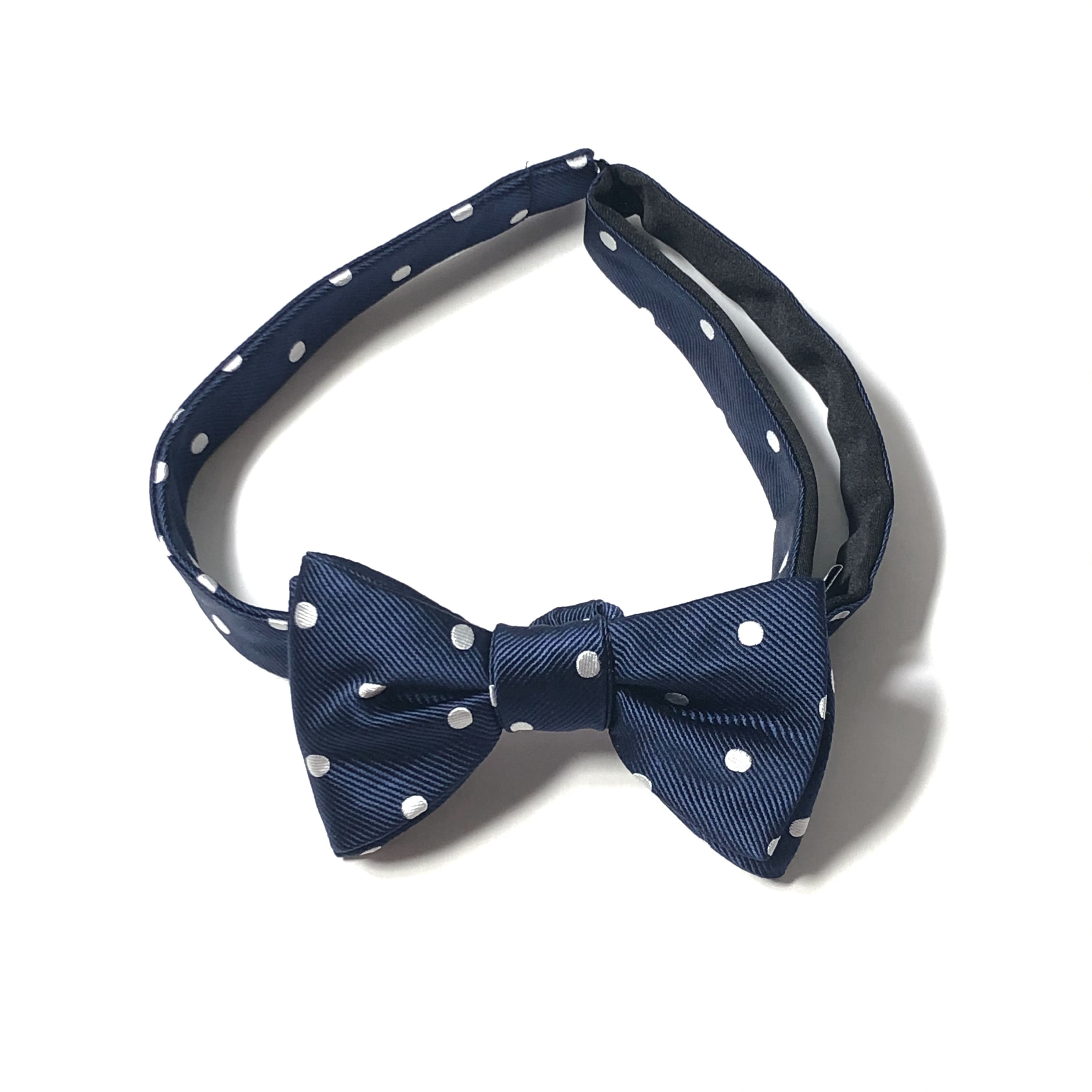 KYOTO SILK REP DOT BOWTIE