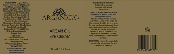 100% Moroccan Argan Oil Eye Cream For Anti-Aging, Renewing and Rehydrating