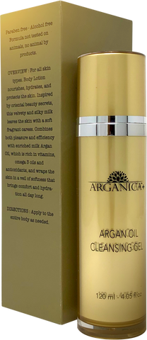 100% Pure Argan Oil Cleansing Gel For Deep Cleaning and Skin Hydration