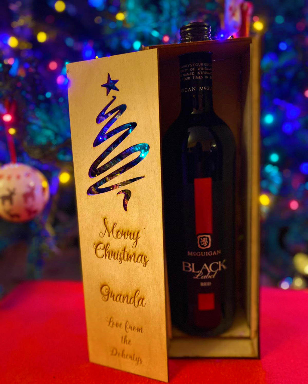 Personalised Christmas Presentation Gift Box - Wine & Spirits