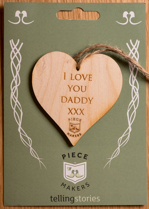 I LOVE YOU DADDY HEART DECORATION