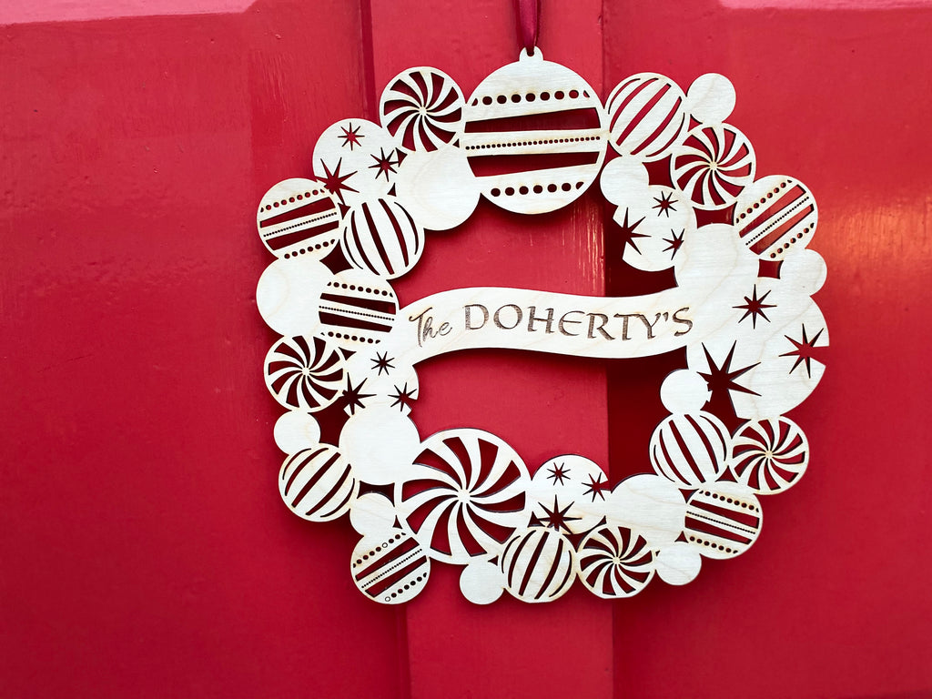Personalised Christmas Door Wreath