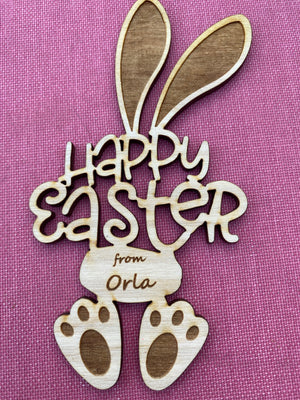 Personalised Happy Easter Bunny