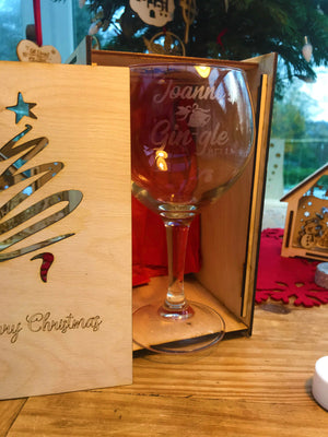 Personalised Cocktail / GIn Glass & Gift Box