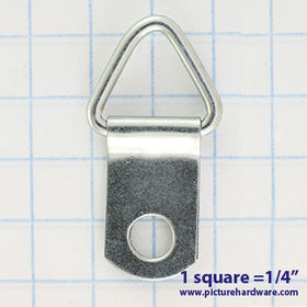 HH20 - 100 Pack - 1-Hole Triangle D-ring Hangers