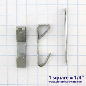 HH34 - 100 Pack - 30lb Zinc Plated Wall Hangers