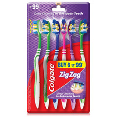 COLGATE ZIG ZAG BRUSH SOFT 6N