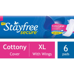 STAYFREE EXTRA LARGE WITH WINGS 6 PADS