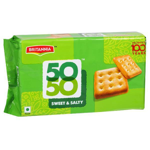 BRITANNIA 50*50 BISCUITS SWEET&SALTY  150GM