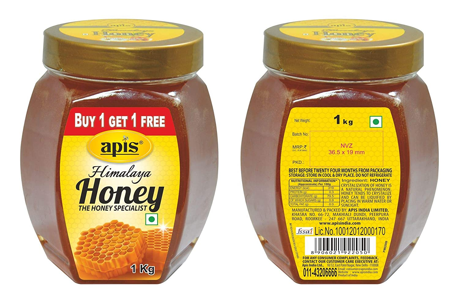 APIS HIMALAYA HONEY 1KG (BUY 1 GET 1 FREE)
