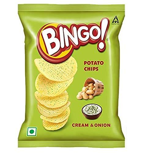 BINGO POTATO CREAM &ONION  CHIPS 52G