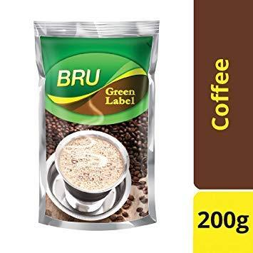 BRU ROAST& GROUND GREEN LABEL COFFEE 200G