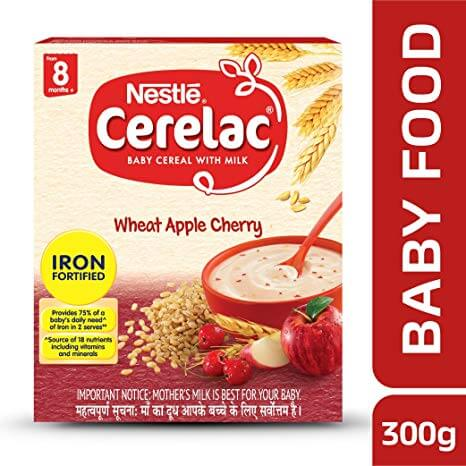 CERELAC  WHEAT  APPLE CHERRY 300G