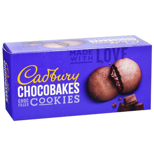 CADBURY CHOCOBAKES CHOC FIIED COOKIES 75G