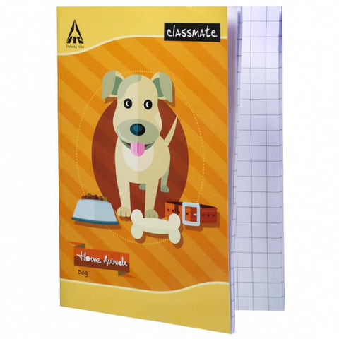 CLASSMATE NOTEBOOK/92PAGES/SQUARE -1CM/SIZE-19*15.5CM/SOFT COVER