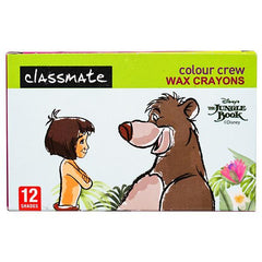 CLASSMATE COLOUR CREW WAX CRYONS(12 SHADES)