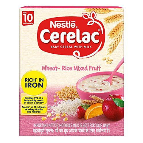 CERELAC WHET RICE MIXED FRUIT  300G