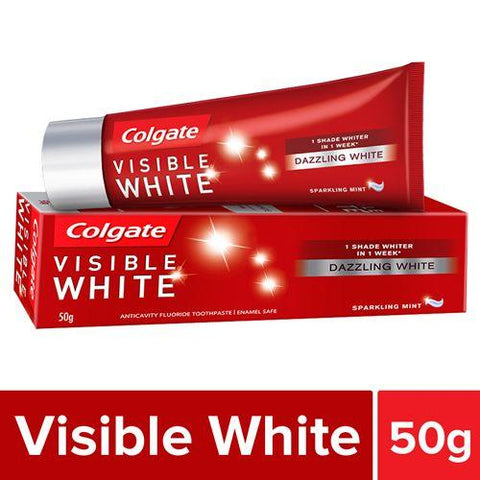 COLGATE VISIBLE WHITE FLUORIDE TOOTH PASTE 50G