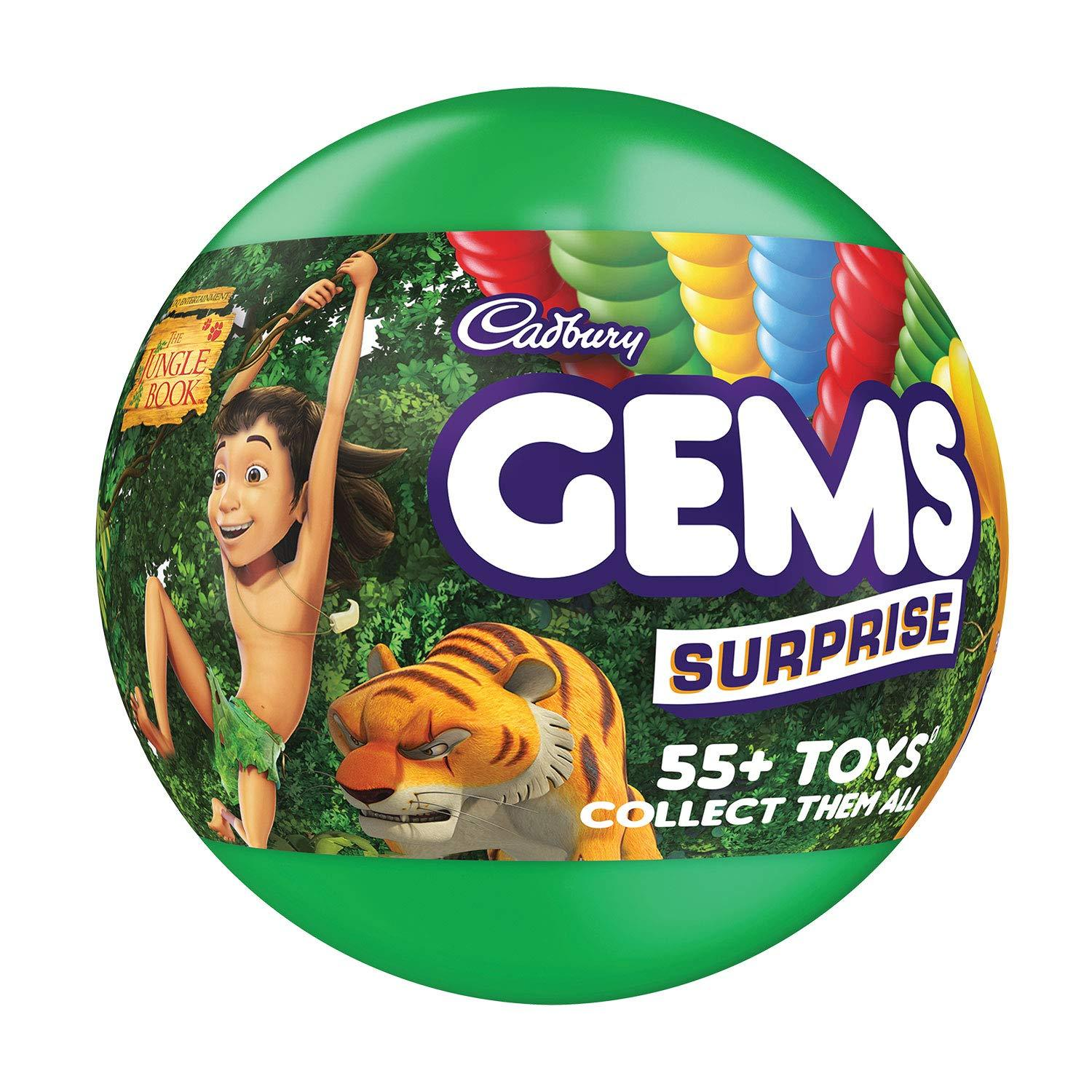 CADBURY GEMS SURPRISE CHOCOLATE 17.8G+1 TOY