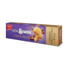 PARLE HIDE & SEEK CHOCO ROLLS BISCUITS 120G
