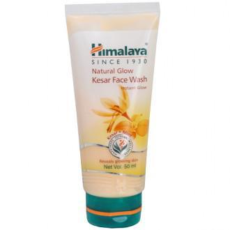 HIMALAYA NATURAL GLOW KESAR  FACE WASH 50ML