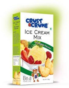 CRUST&CRUMB ICE CREAM MIX 100G(PINEAPPLE FLAVOUR)