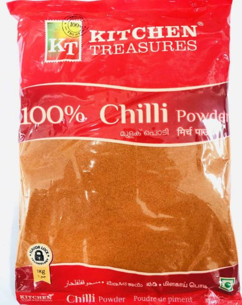 KITCHEN TREASURES CHILLI POWDER 1KG