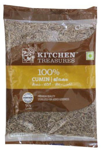 KITCHEN TREASURES CUMIN (JEERAKAM) 50G