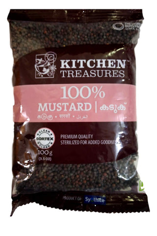 KITCHEN TREASURES MUSTARD SEEDS  (KADUKU) 100GM