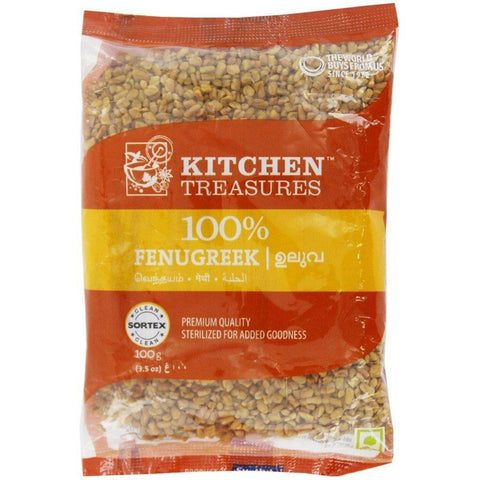 KITCHEN TREASURES FENUGREEK SEEDS (ULUVA) 100GM