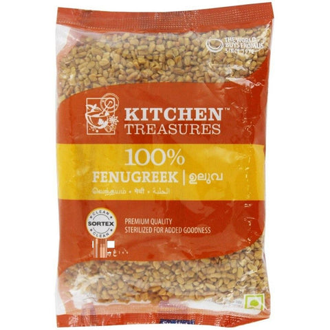KITCHEN TREASURES FENUGREEK SEEDS (ULUVA) 250GM