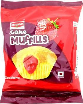 BRITANNIA  CAKE MUFFILS STRAWBERRY 35G
