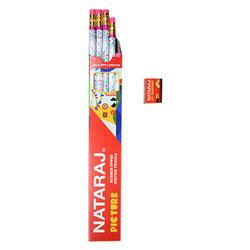 NATRAJ RUBBER TIPPED PENCIL(10PCS) FREEE SHARPNER