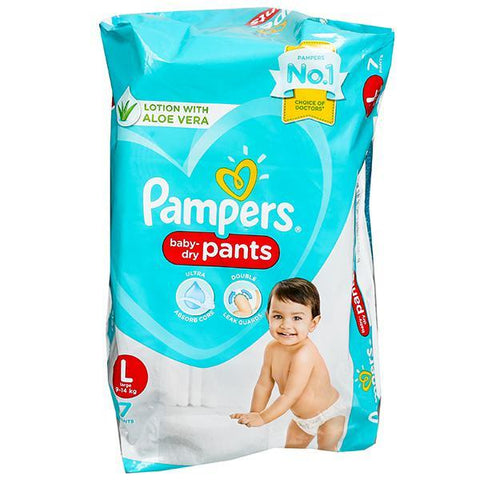 PAMPERS BABY DIAPER PANTS LARGE  (7PAD)