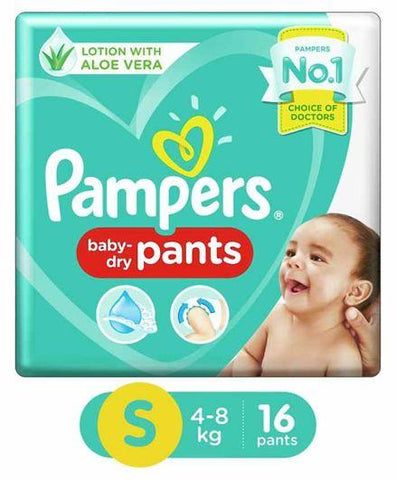 PAMPERS BABY DIAPER PANTS SMALL(16 PADS)