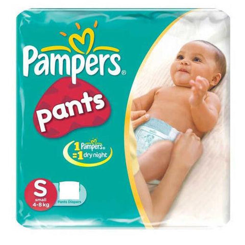 PAMPERS BABY DIAPER PANTS SMALL(2 PADS)