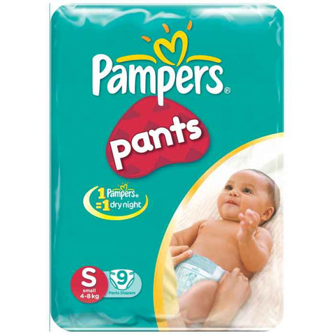 PAMPERS BABY DIAPER PANTS SMALL(9 PADS)