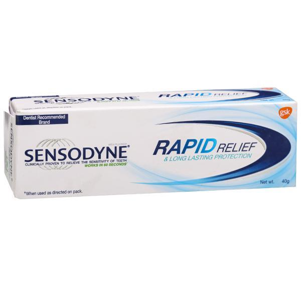 SENSODYNE TOOTH PASTE RAPID 40GM