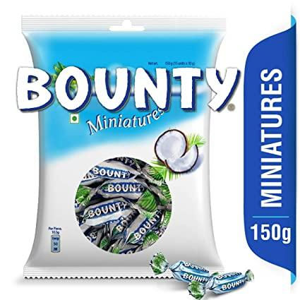BOUNTY MINIATURES  CHOCOLATE 150G(15UNITS*10G EACH)