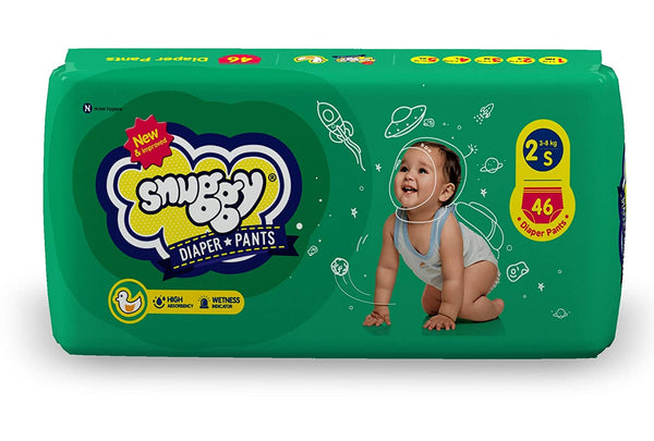 SNUGGY BABY DIAPER PANTS SMALL SIZE(46 DIAPER PANTS)