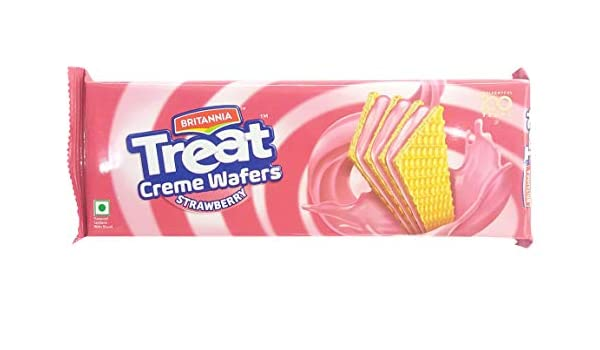 BRITANNIA TREAT CRÈME WAFER STRAWBERRY 75G